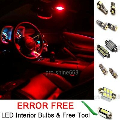 Interior Car LED Bulb Light SMD KIT Package Xenon Red For AUDI A3 (8P) SPORTBACK