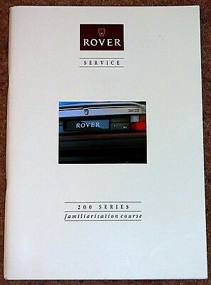 ROVER 200 SERIES -Rover Service Training Manual Brochure for new 200 Series 1989