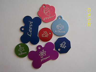 DOUBLE SIDED Custom Engraved Dog Cat tags Pet ID Tags