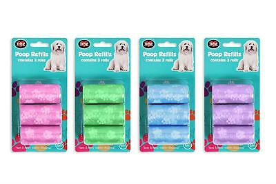 Dog Puppy Poop Pet Clean Up 3Pk Refills 60 Bags