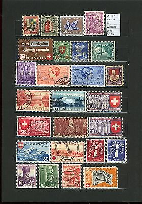 Stamps Lot Switzerland  Used  (L11191)