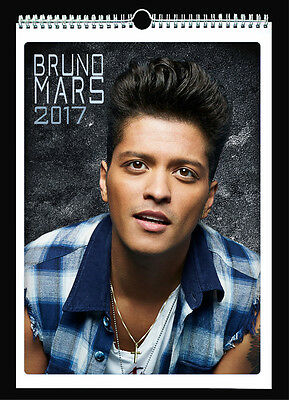 Bruno Mars 2017 Wall Holiday Calendar