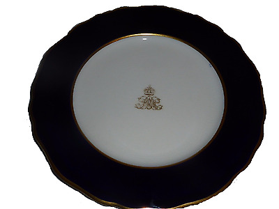 King Edward VII Queen Alexandra crowned  monogram tazza,  Royal Worcester 1903
