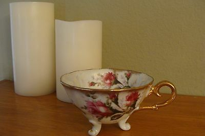 Vintage Opalescence Three Legged Floral Cup