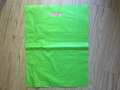Lime Green Plastic Bags x 50