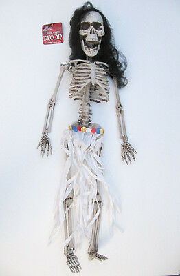 NEW The Gothic Collection Halloween Hanging 2 Ft White Dress Skeleton