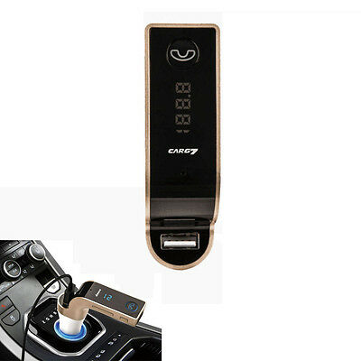 Smart Phone Blutooth FM Transmitter Car Kit USB Charger Holder Handsfree Calling