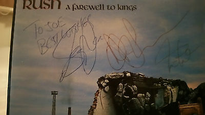 Rush Autographed CD