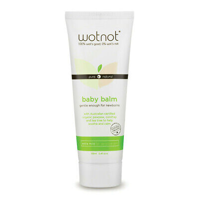 Wotnot Natural Organic Baby Balm 100ml For Gentle Newborn