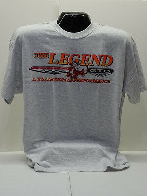 Gto Association Of America Grey Pontiac Tradition Of Performance Tee Shirt