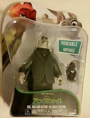 Zootopia 2 Pack Plastic Action Figures - Mr.Big and Kevin  NEW