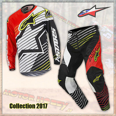 Completo Cross Enduro Alpinestars Racer Braap 2017 Red White Black M  32