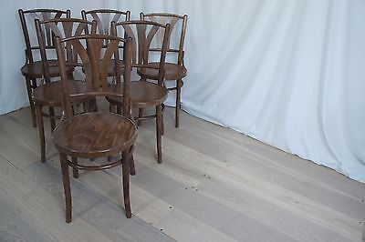 Set of 6 Vintage French Bentwood Chairs
