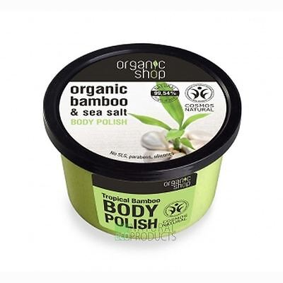 Organic Shop Body Polish Natural Bamboo and Sea Salt 250ml