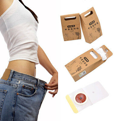 30 Pcs Chinese Navel Belly Button Herbal Patch For Weight Loss Slim Body Health