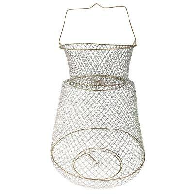 Metal Wire Collapsible Fish Lobster Mesh Fishing Net Prawn Fishing Trap Cage