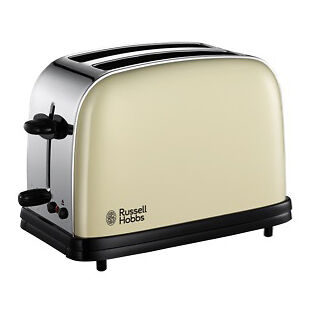 Russell Hobbs 18953 Colours 2 Slice Toaster in Cream - Brand New UK Stock
