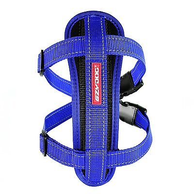 Ezydog Chest Plate Dog Harness - Extra Small - Blue - Supplied With Belt Loop