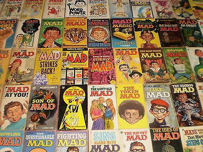 Vintage Collection of Mad Magazine Paperbacks/books x 112