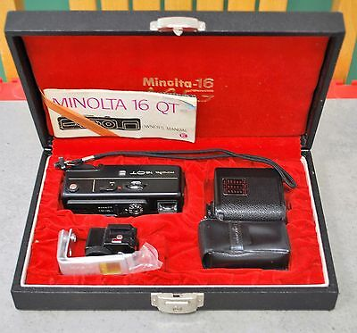 Vintage Minolta 16 Subminiature Camera Set