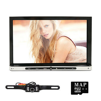 "7"" Android 4.4 3G-WIFI 2Din Car Stereo Radio In Dash PC Tablet BT GPS Nav+Camera"