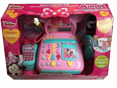 New Disney Minnie Mouse Cash Register Till With Accessories Toy Playset Age 3+