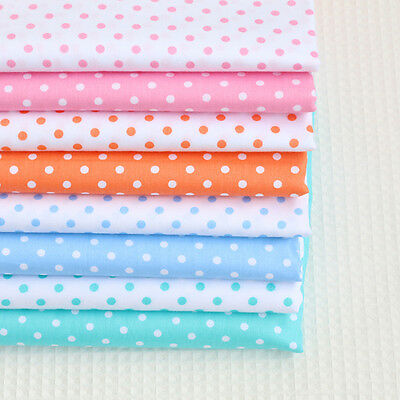One PCS Cotton Fabric Pre-Cut Cotton cloth Fabric for Sewing Polka dots D9