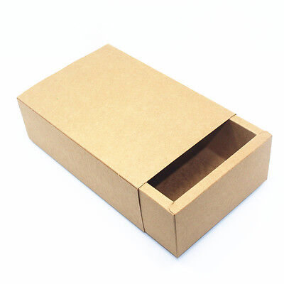 Kraft Paper with Drawer Packaging Boxes Gift Wedding Party Paper Box