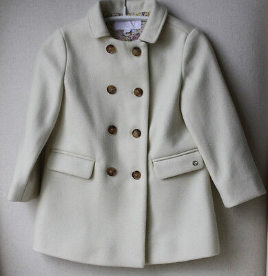 Gucci Baby Yellow Wool Blend Double-Breasted Coat 24 Months