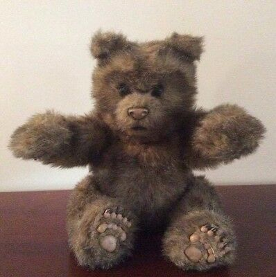 FUR REAL Friends Luv Cub Large Brown Bear Interactive Plush Toy 2004 Hasbro