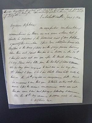 James Bowstead - 1840 - Signed Letter