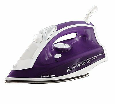 Russell Hobbs 23060 Supreme Steam Traditional Iron 2400w Purple/White -Brand NEW