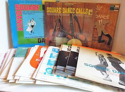 LOT of 27 SQUARE DANCING Records LPS All in Sleeves Dance Vintage Nice Condition