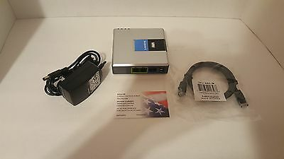 FACTORY UNLOCKED LINKSYS PAP2 T VOIP PHONE Adapter SIP Gateway 2 Port USA