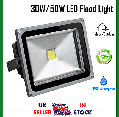 30W / 50W Cool White LED Security Floodlight Outdoor Flood Light IP65