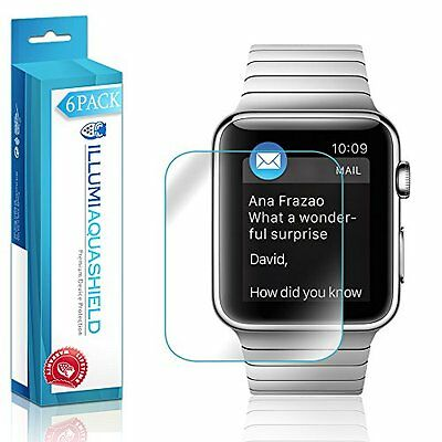 Apple Watch 42mm Screen Protector [6-Pack] ILLUMI Full Coverage Screen Protector
