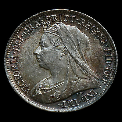 1901 Queen Victoria Veiled Head Sixpence – Uncirculated #2