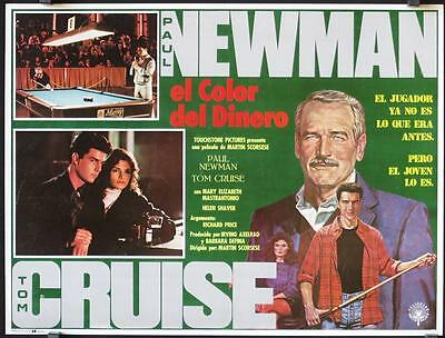 L452 THE COLOR OF MONEY  Mexican LC '86 Paul Newman & Tom Cruise playing pool