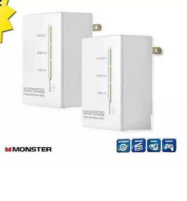 Internet Ethernet Over Powerline Adapter Power Electrical Line 200mbps Wireless