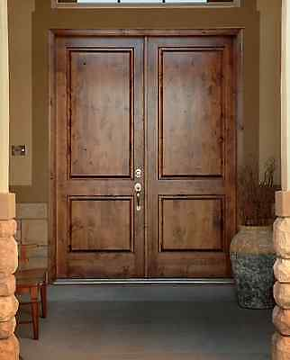"""Traditional Knotty Alder Double Front Entry Door 8'0"""" FAST SHIPPING"""
