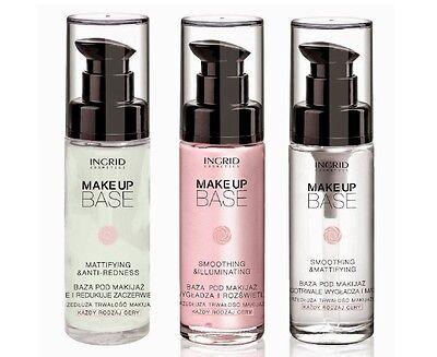 Ingrid Make Up Base Mattifying Illuminating Anti Redness Face Primer 30ml