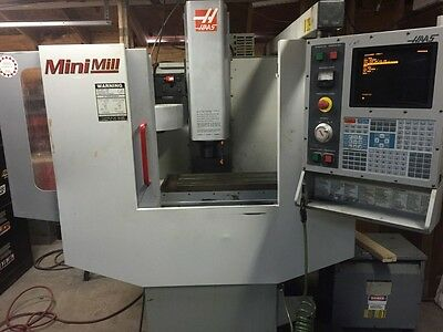 Used Haas Mini Mill Vertical Machining Center Mill CT-40 Milling Coolant 2001