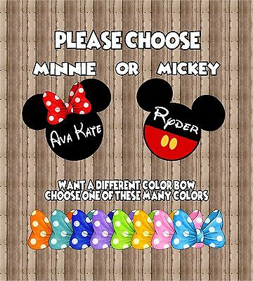 Personalized Disney Mickey Minnie Mouse Cruise Stateroom Door Magnet B3G1F