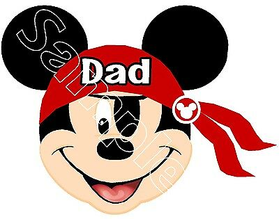 Personalized Disney Mickey Minnie Mouse Pirate Cruise Stateroom Magnet B3G1F