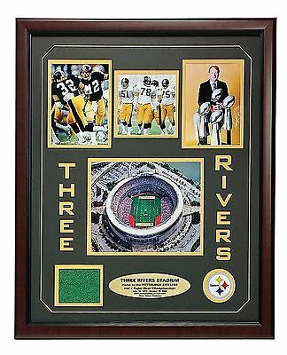 Steelers Three Rivers Stadium Authentic Game Used Turf Frame Coa Pittsburgh