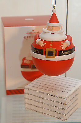 Secret Santa Hallmark Ornament 2014~Hide A Gift Inside Ornament~~Free Ship In Us