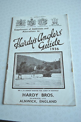 Rare Vintage Hardy's Supplement Of Additions Advertising Fishing Catalogue 1936