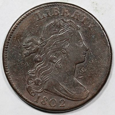 1802 S-237 R-3 Draped Bust Large Cent Coin 1c
