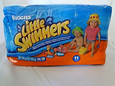 Huggies Little Swimmers Disposable Swimpants, Size M (24-34 lb), 11 ct