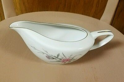 Golden Rose Fine China MSI Japan Pink Roses Gold Trim Gravy Boat